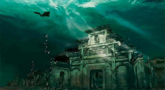 An ancient underwater city in China, the Lion City