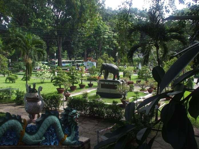 the garden inside saigon zoo