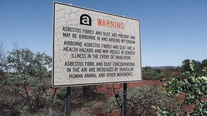 Government warning about the dangerous asbestos in Wittenoom