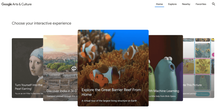 Google Art & Culture has the biggest collection of virtual museum tours