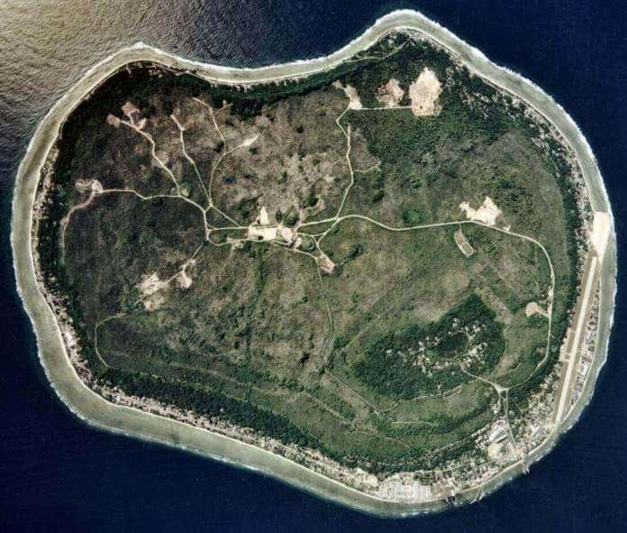 Nauru island has an oval shape from aerial view