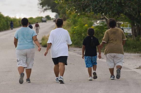 Obese people in Nauru island are walking for excersie around the international airport