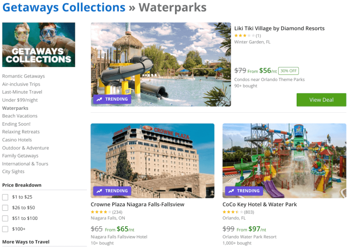 Waterpark coupons on Groupon