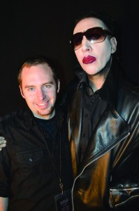 VIP ticket-holders had the chance to get an autograph from Marilyn Manson, as well as a phoot with the shock rocker. Photo submitted by Jarred Graham.