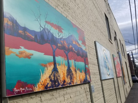 Line Up of Bend's Artwork Located in NW Gasoline Alley