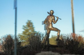 Sculpture: Centennial Logger by Jerry Werner / Photo by Roman Russell