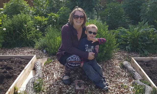 Photo of Correne Omland and her son Ashton