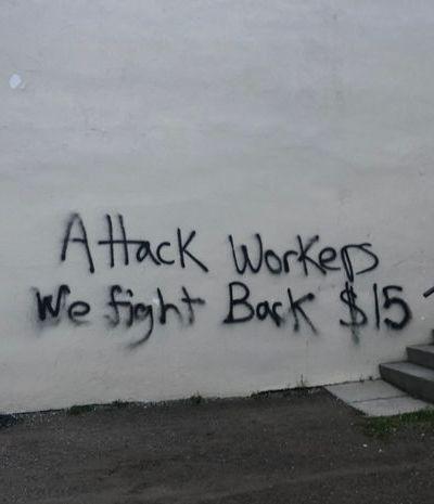 MPP's office vandalized after Province freezes minimum wage hike