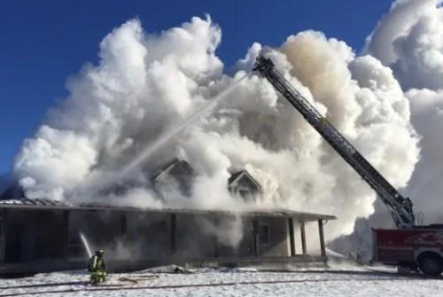 House fire erupts in Ramara Township