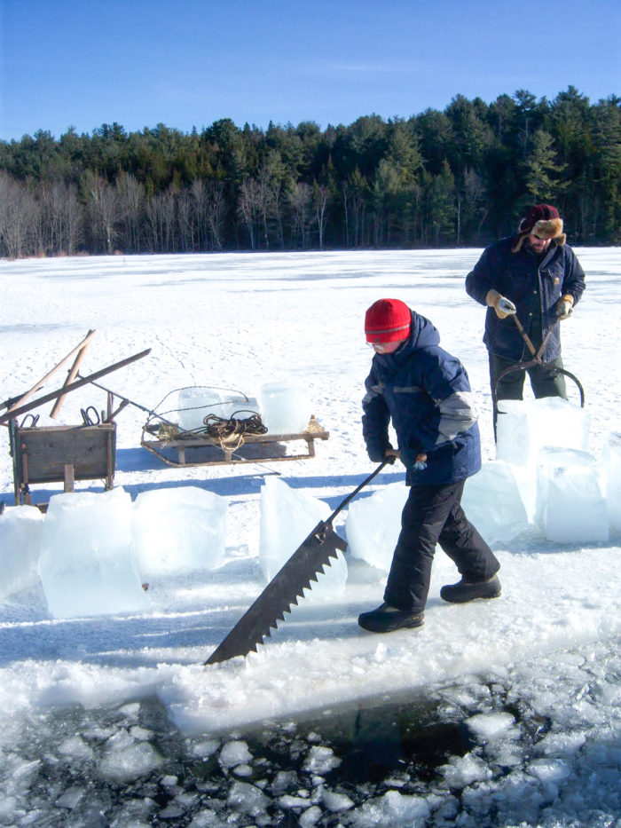 Ice cutting was once a big business on Lake Simcoe