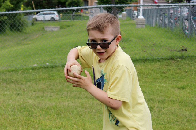 Primary students at McCaskill's Mills hit the track