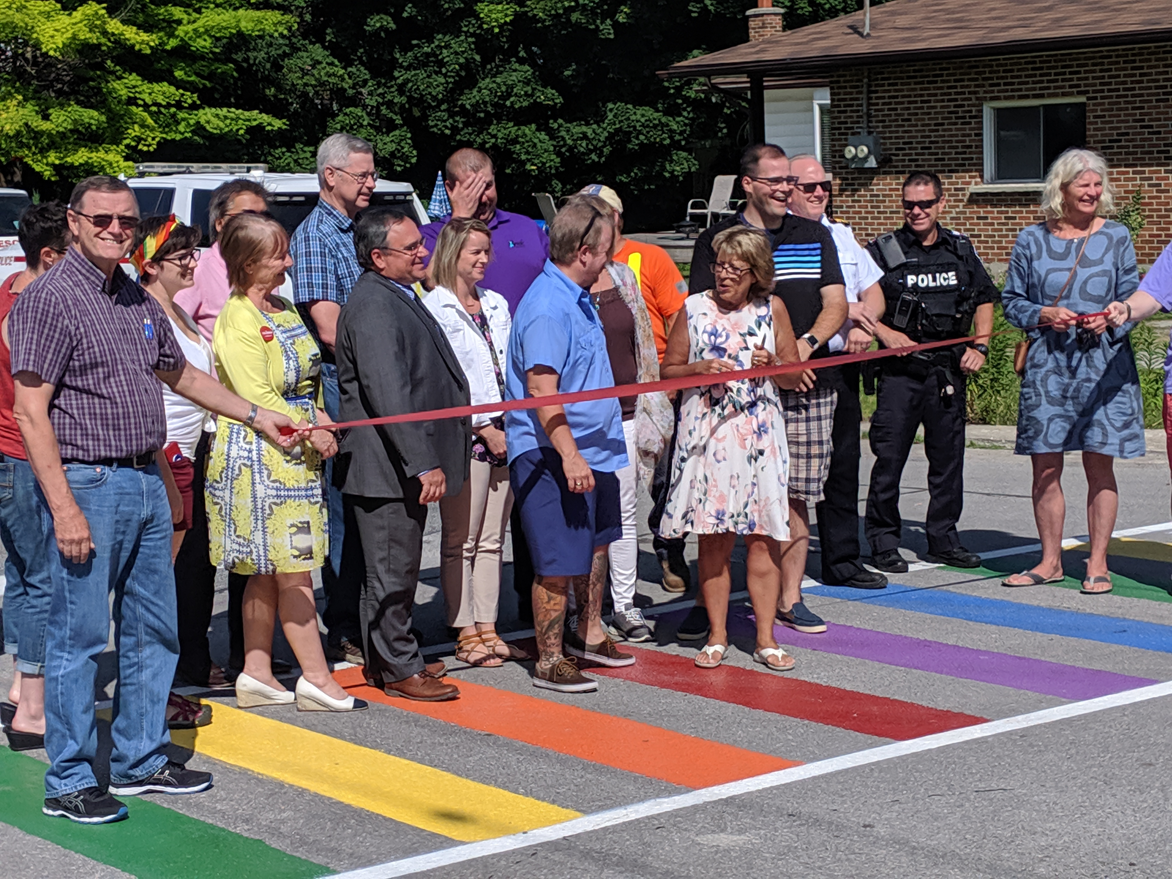 Rainbow crossing in Cannington featured in video from Uxbridge group
