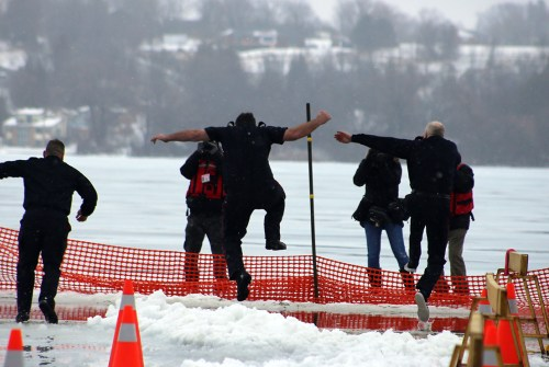 North Division officers take the plunge for Lakeridge Health Port Perry