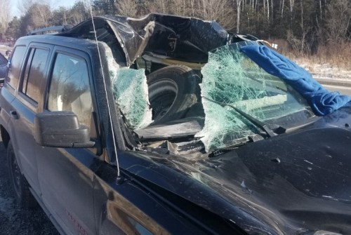 Commercial driver, operator charged after wheel flies off tractor trailer on Highway 7