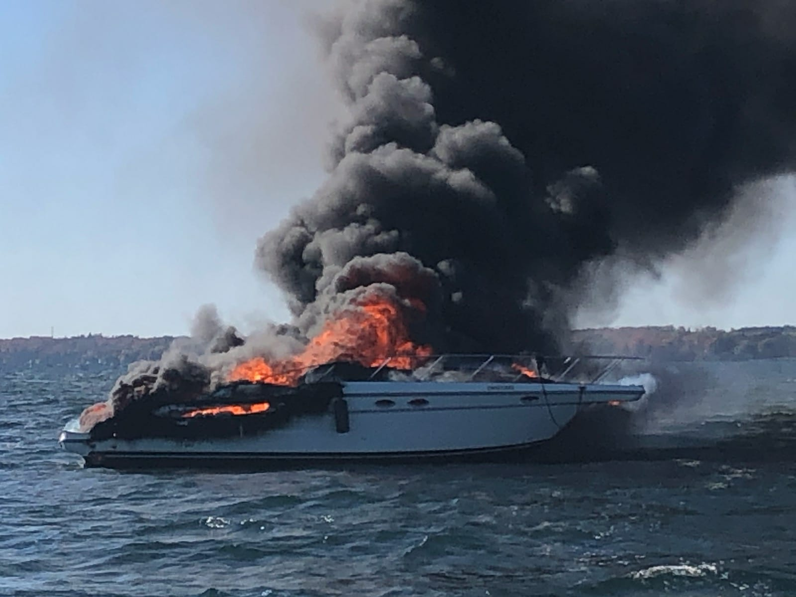 Electrical issue led to boat fire on Lake Simcoe