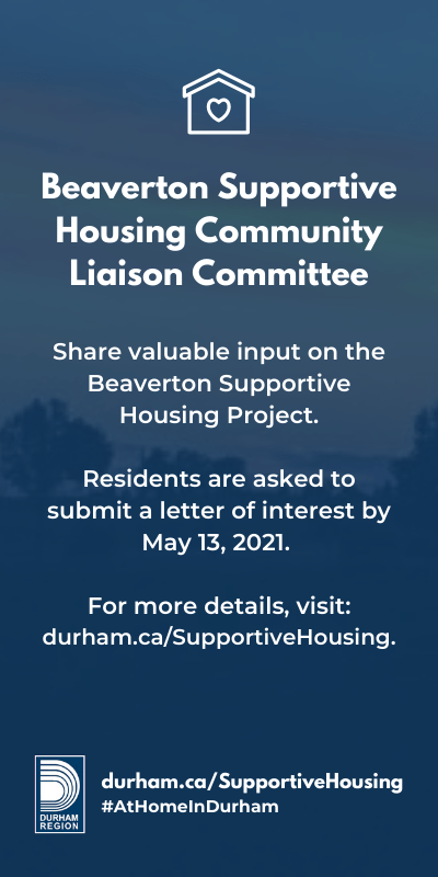 Beaverton Supportive Housing Durham Region ad