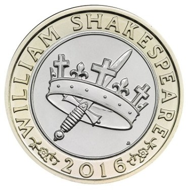 £2 coin depicting Shakespeare's histories