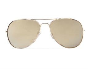 Gold Lens Aviators $10