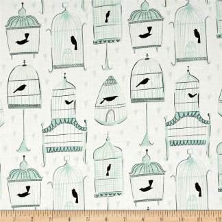 Dear Stella Perch Birdcages Fabric 0476742