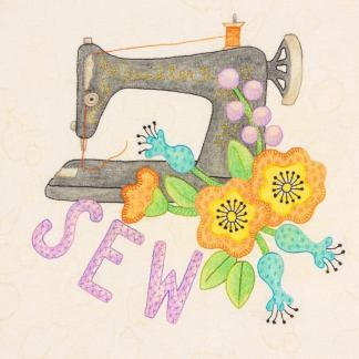 Beginner Hand Embroidery - Sewing machine