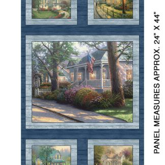 Hometown Spirit panel by Thomas Kinkade 4028-55