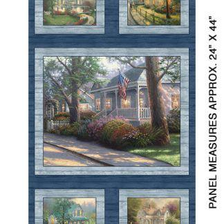 Hometown Spirit panel by Thomas Kinkade 4028-55