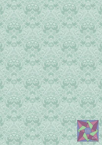 Lewis & Irene - Duck Egg Hummingbird Silhouette - A432.2