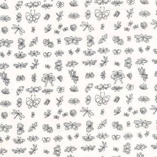 Michael Miller Fabrics - Enjoy the Little Things- DC7774-WHIT-D