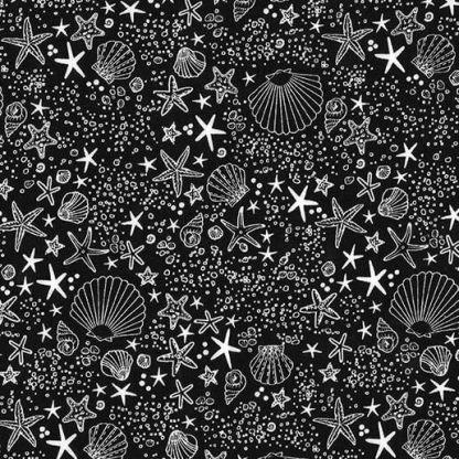 Michael Miller Fabrics - Seashore - DC8172-BLAC-D