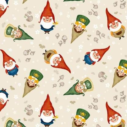 Gnome Sweet Gnome - Sweet Gnomes - DC9606-ECRU-D