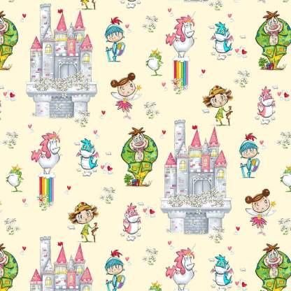 Believe in Magic - Castle Scenic - 5467-44 Cream
