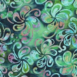Bali - Petal Play - Spinning Petals - Teal Jade Multi - 9163-42