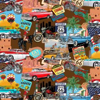 Life's a Kick - 1662-39 - Brown - Scenic Route 66