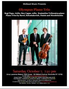 Oct 7 Olympus Trio