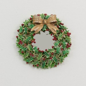 weiss christmas wreath holly berry