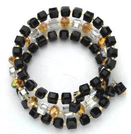 triple treat coil cube bracelet