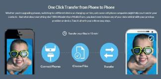 One Click Transfer from one phone to another