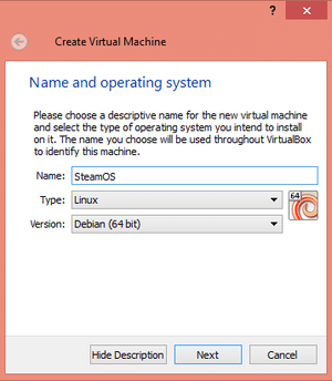 Setting up Steam OS in Virtual Box