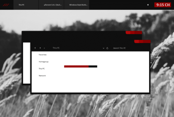 Black Red Minimal Theme for Windows 8 and 8.1