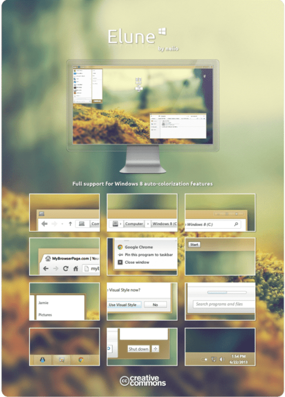 Elune Theme by neiio for Windows 8 and 8.1