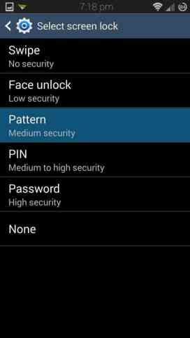 Set Pattern Lock in your device