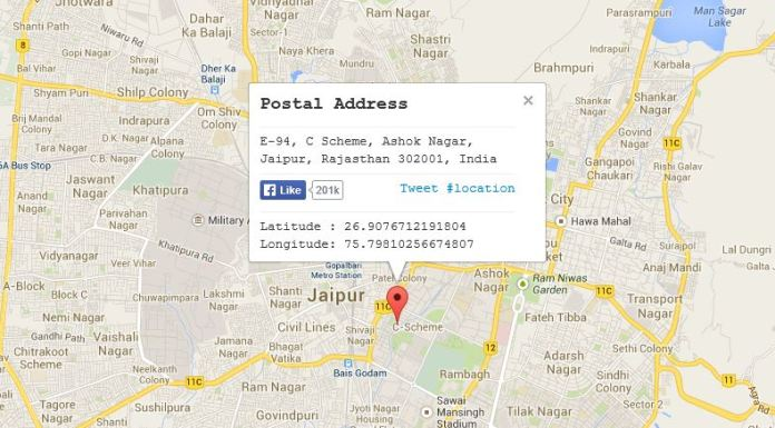 Find Postal Code of any Location with Google Maps