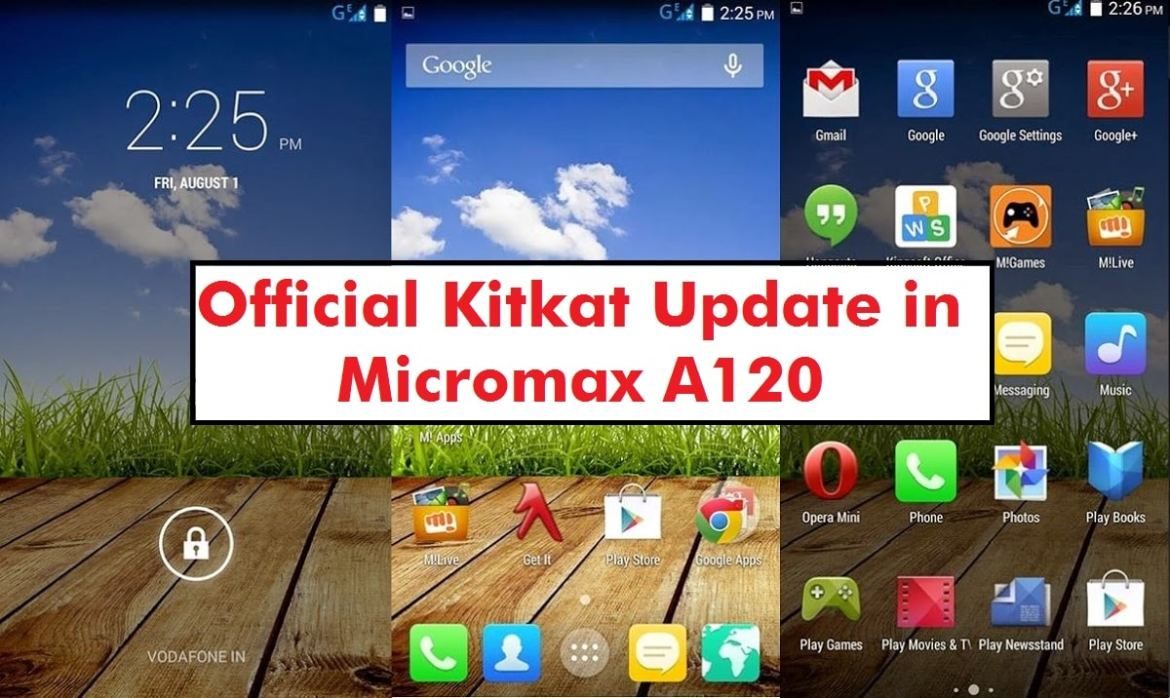 Kitkat in Micromax A120 Canvas 2 Colours