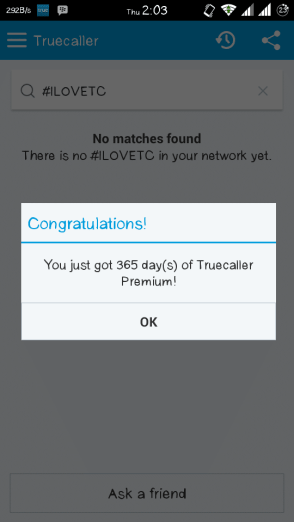 TrueCaller Premium Account for One Year