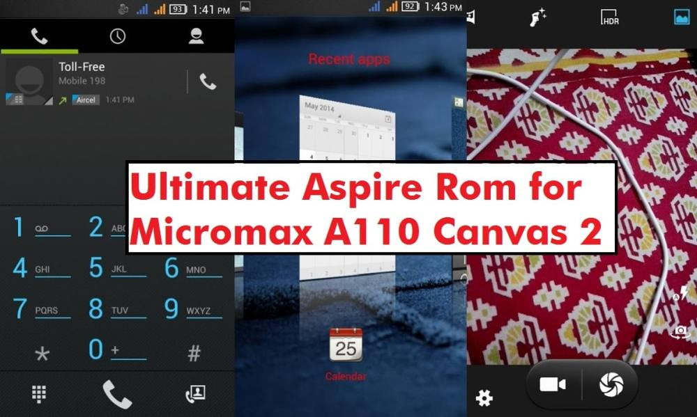 Ultimate Aspire Rom for Micromax A110