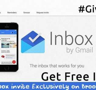 Google Inbox By Gmail Invites GiveAway
