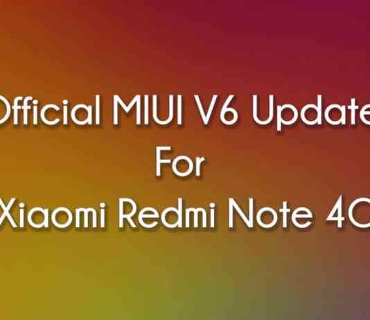 Official MIUI 6 For Xiaomi Redmi Note 4G