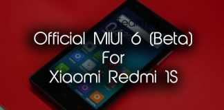 Official MIUI 6 ROM For Xiaomi Redmi 1S