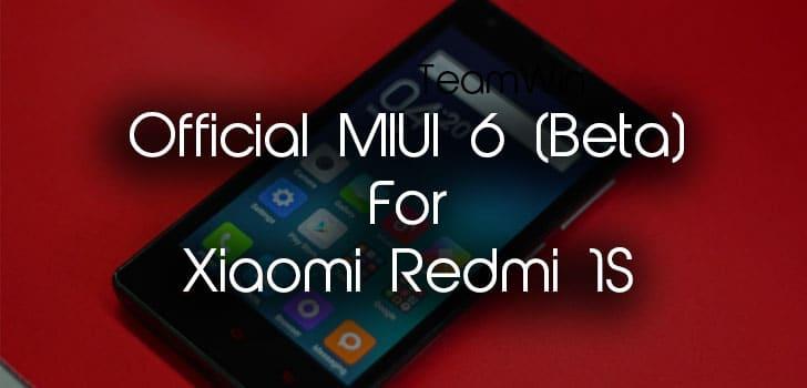 Official MIUI 6 ROM For Xiaomi Redmi 1S