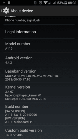 Discovery Android 4.4.2 Kitkat Rom For Micromax A116 Canvas HD 2